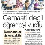 Cumhuriyet Gazetesi 1.Sayfa